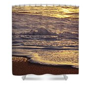 Sunset On Small Wave Shower Curtain