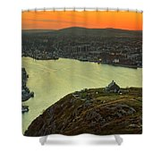 Sunset On St. John's Harbour Shower Curtain