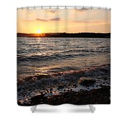 Sunset On The Bay Of Fundy Shower Curtain