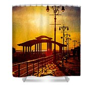 Sunset On The Boardwalk Shower Curtain