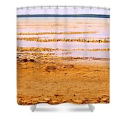 Sunset On The Mud Flats Shower Curtain