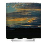 Sunset On The Old Canadian Highway Shower Curtain