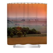 Sunset On The Prairies, Holland Shower Curtain