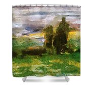 Sunset On The Road - The Highway Series Shower Curtain