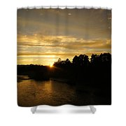 Sunset On The Rogue River Shower Curtain