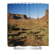 Sunset On Towers Shower Curtain