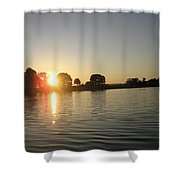 Sunset On Walter Wirth Lake Shower Curtain