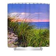 Sunset On Wellfleet Dunes Shower Curtain