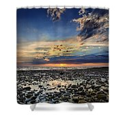 Sunset Over Bound Brook Island Shower Curtain