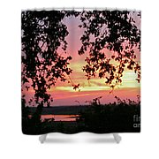 Sunset Over Canyon Lake Shower Curtain