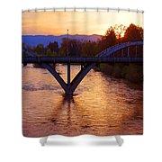 Sunset Over Caveman Bridge Shower Curtain