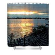 Sunset Over Cedar Creek Shower Curtain