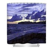 Sunset Over Dubrovnik Shower Curtain