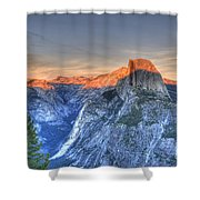 Sunset Over Half Dome Shower Curtain