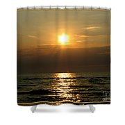 Sunset Over Lake Erie 3 Shower Curtain