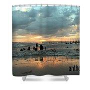 Sunset Over Lake Pontchartrain Shower Curtain