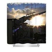 Sunset Over Long Beach Shower Curtain
