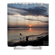 Sunset Over Lovewell Lake Shower Curtain