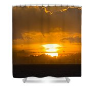 Sunset Over Miami Shower Curtain