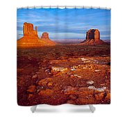 Sunset Over Monument Valley Shower Curtain