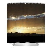 Sunset Over Mt Charleston Shower Curtain