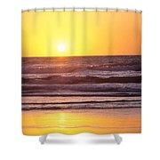 Sunset Over Ocean Shower Curtain
