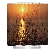 Sunset Over Pacific Shower Curtain