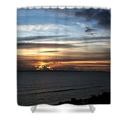 Sunset Over Poole Bay Shower Curtain