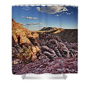 Sunset Over Red Rocks Shower Curtain