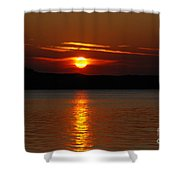 Sunset Over Silver Lake Sand Dunes Shower Curtain