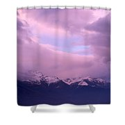 Sunset Over Snow-capped Mountains Shower Curtain