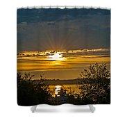 Sunset Over Steilacoom Bay Shower Curtain