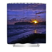 Sunset Over The Adriatic Shower Curtain