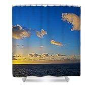 Sunset Over The Caribbean Sea Shower Curtain