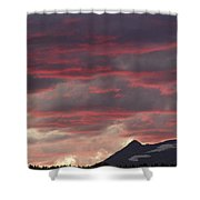 Sunset Over The Colorado Rocky Mountain Continental Divide Shower Curtain