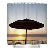 Sunset Over The Dead Sea Shower Curtain