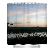 Sunset Over The Fields Shower Curtain