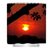 Sunset Over The Golf Course Shower Curtain