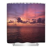 Sunset Over The Gulf Of Mexico Shower Curtain