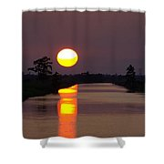 Sunset Over The Lagoon Shower Curtain