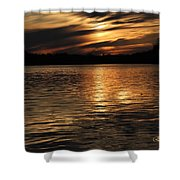 Sunset Over The Lake - 3rd Place Win Shower Curtain