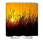 Sunset Over The Prairie Shower Curtain