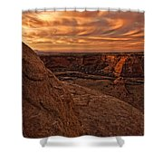 Sunset Over The Rim Of Canyon De Shower Curtain