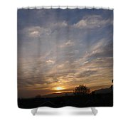 Sunset Over The San Fernando Valley Shower Curtain