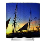 Sunset Over The Star Of India Shower Curtain