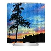 Sunset Over The Suwanee Mosaic Shower Curtain