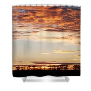 Sunset Over The Tree Line Shower Curtain