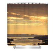Sunset Over Water, Argyll And Bute Shower Curtain