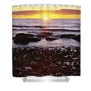 Sunset Over Water, Newfoundland, Canada Shower Curtain