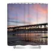Sunset Pier San Simeon California 1 Shower Curtain